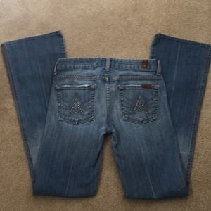 "7 for All Mankind ""A"" Pocket Bootcut Jeans"